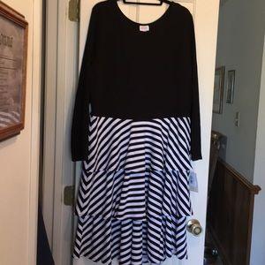 LuLaRoe Georgia dress 3X Black & White NWT